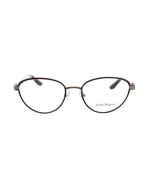 Ferragamo - Black Cat-eye Logo Eyeglasses W/ Tags - Lyst