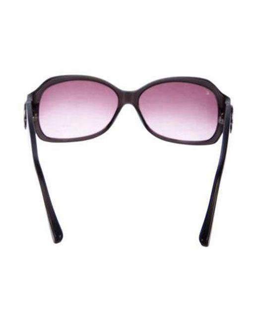 3dbfdad5228 ... Louis Vuitton - Brown Ursula Strass Sunglasses - Lyst ...