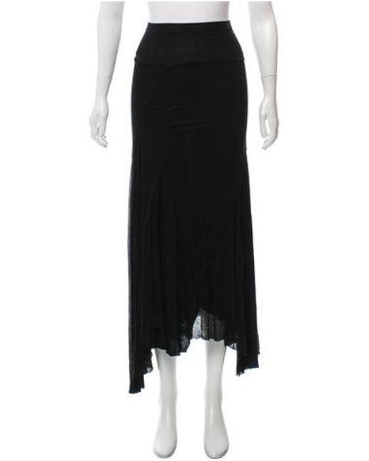 d7b04f1899e Women's Black Asymmetrical Maxi Skirt