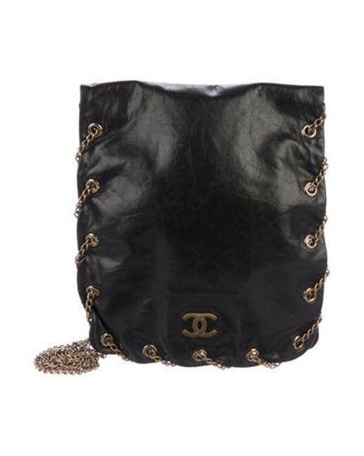 f933c3f5d6e7 Chanel - Metallic Cc Chain Flap Bag Black - Lyst ...