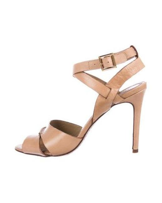 7bb97fbe92de5 Tory Burch - Brown Leather Multistrap Sandals - Lyst ...