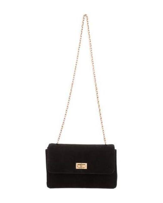 afe947ce0f58 Chanel - Metallic Vintage Suede Shoulder Bag Black - Lyst ...