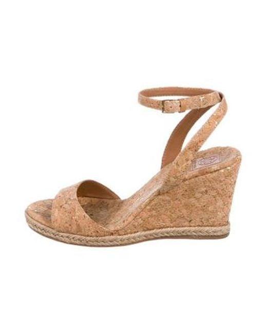 e83c410b0f77 Lyst tory burch cork wedge sandals in brown jpeg 520x650 Brown cork wedge  sandals