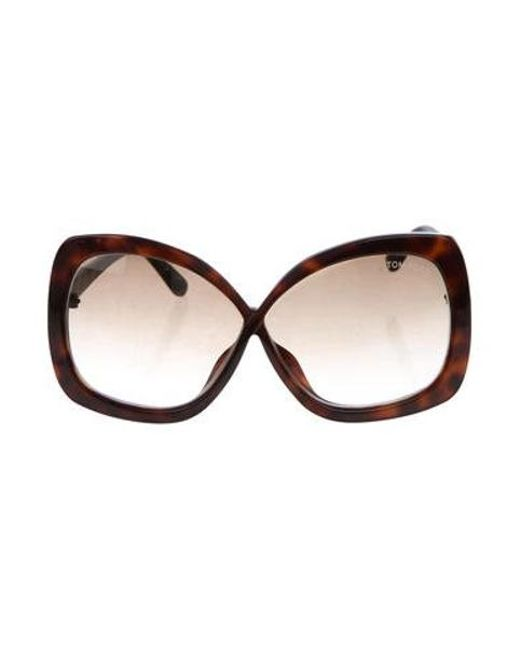 0948d9d51b1d Tom Ford - Metallic Calgary Oversize Sunglasses Brown - Lyst ...