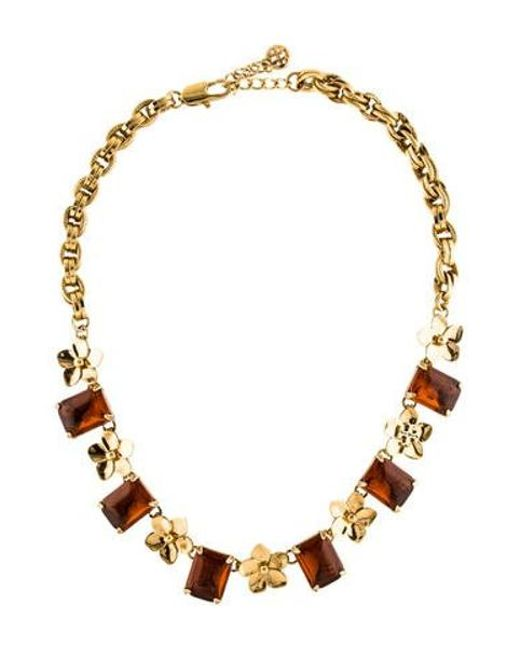 Tory Burch - Metallic Cecily Floral Collar Necklace Gold - Lyst
