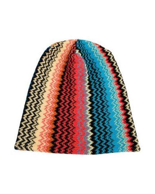 02a8e34c6d4 Missoni - Multicolor Wool Knit Beanie Orange - Lyst ...