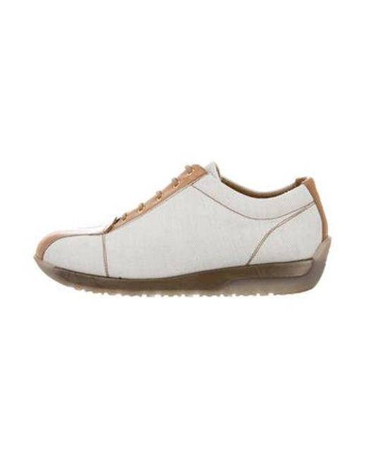 6e1fc59cfe5e Stuart Weitzman - Natural Low-top Lace-up Sneakers Neutrals - Lyst ...