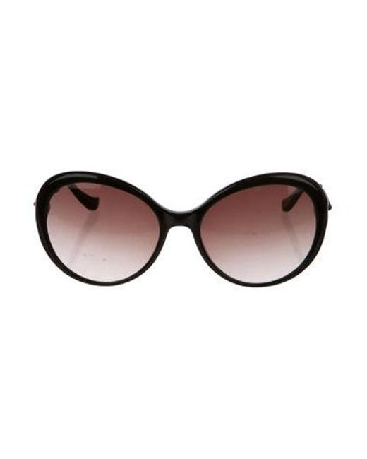 5f087422506 Moschino - Metallic Gradient Round Sunglasses Black - Lyst ...