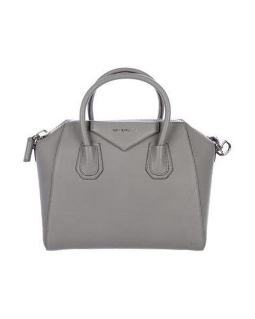 Givenchy - Metallic Small Antigona Satchel Grey - Lyst ... bd2bfee8df