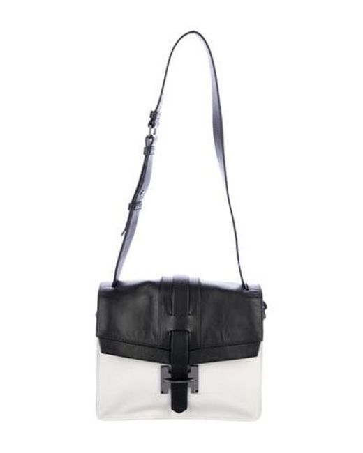 c1a65a7566 Halston Heritage - White Bicolor Leather Shoulder Bag - Lyst ...