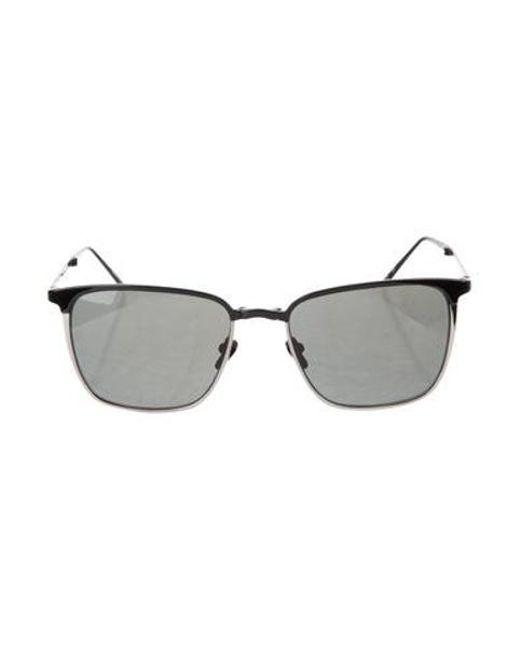 876b3e344ea4 Linda Farrow - Metallic Gradient Square Sunglasses Black - Lyst ...