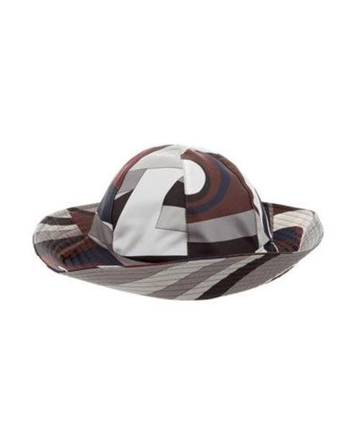 Emilio Pucci - Brown Printed Brimmed Hat - Lyst ... e2bcad374b77