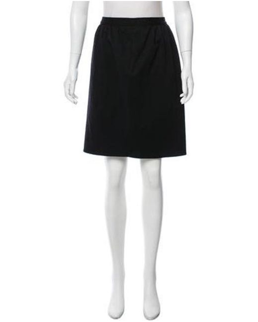 Sonia Rykiel - Black Wool Pencil Skirt - Lyst