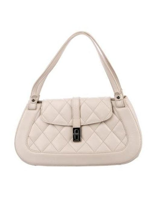 d567d1c5f86f Chanel - White Quilted Caviar Mademoiselle Shoulder Bag - Lyst ...