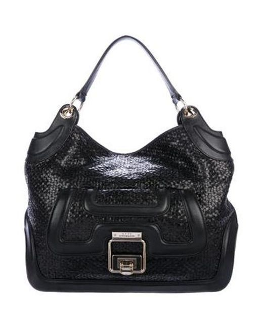 259e352509ec5 Anya Hindmarch - Metallic Woven Beverly Hobo Black - Lyst ...