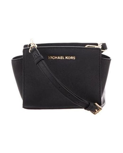 5abe2809a40a MICHAEL Michael Kors - Metallic Michael Kors Mini Crossbody Bag Black - Lyst  ...