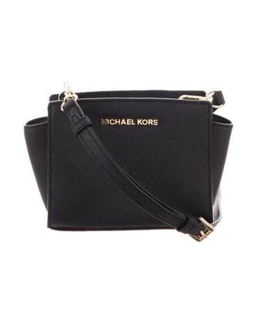 e2e8ba41fb7d MICHAEL Michael Kors - Metallic Michael Kors Mini Crossbody Bag Black - Lyst  ...