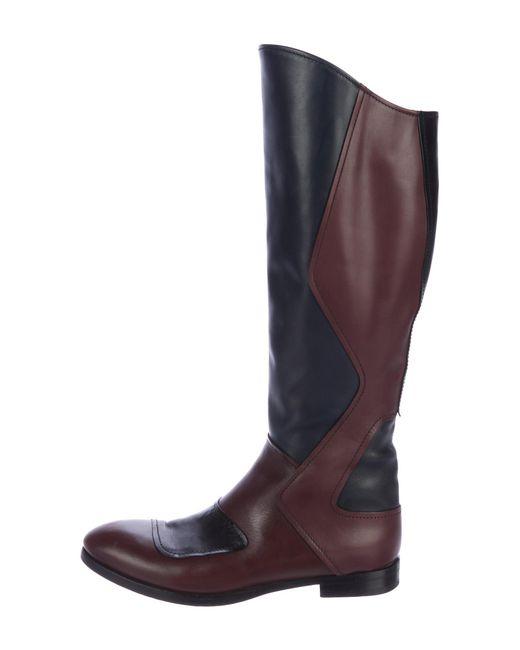 Miu Miu Knee-High Colorblock Boots prices for sale Oip9u3VgZb