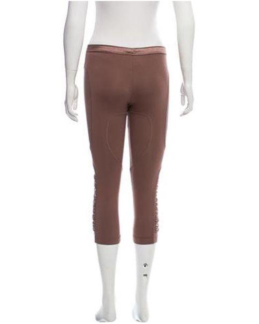 c4bfcb4abb8bc ... Adidas By Stella McCartney - Purple Mesh Accented Crop Leggings - Lyst