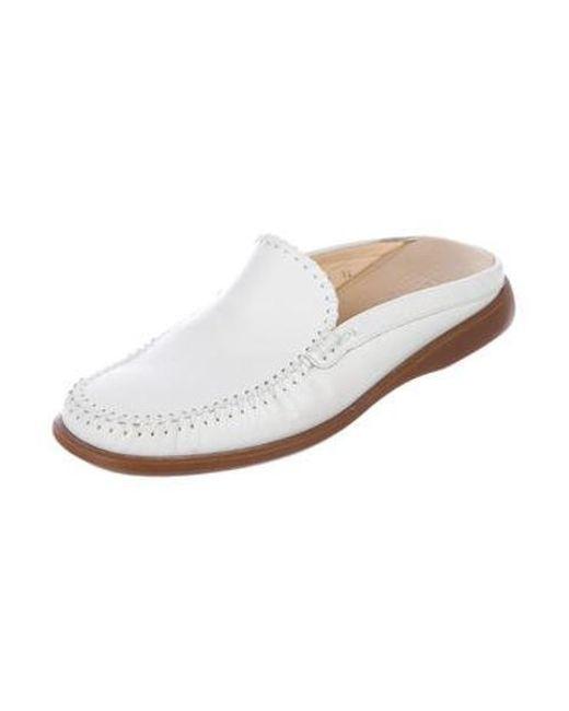 8ee53911562 ... Ferragamo - White Leather Slip-on Loafers for Men - Lyst ...