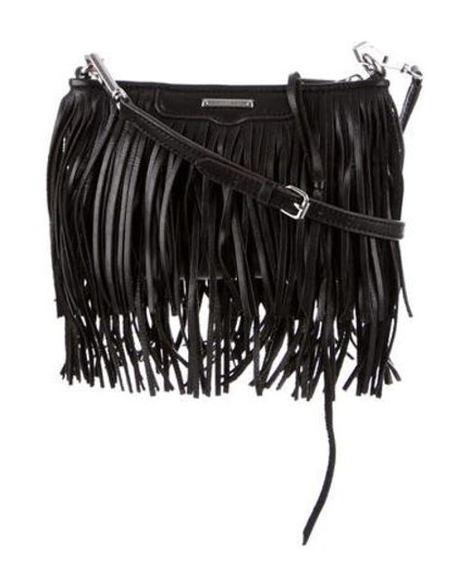 Rebecca Minkoff - Metallic Finn Crossbody Bag Black - Lyst ... b35eb5854625e