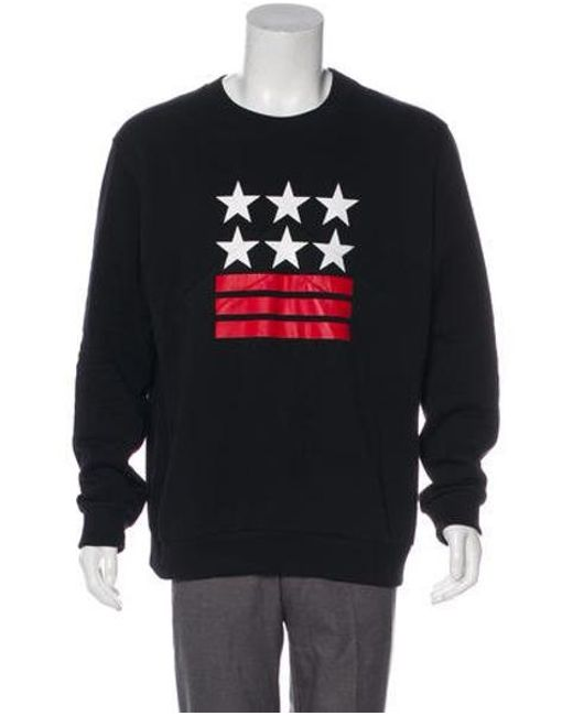 Lyst Givenchy Graphic Crew Neck Sweatshirt In Black For Men