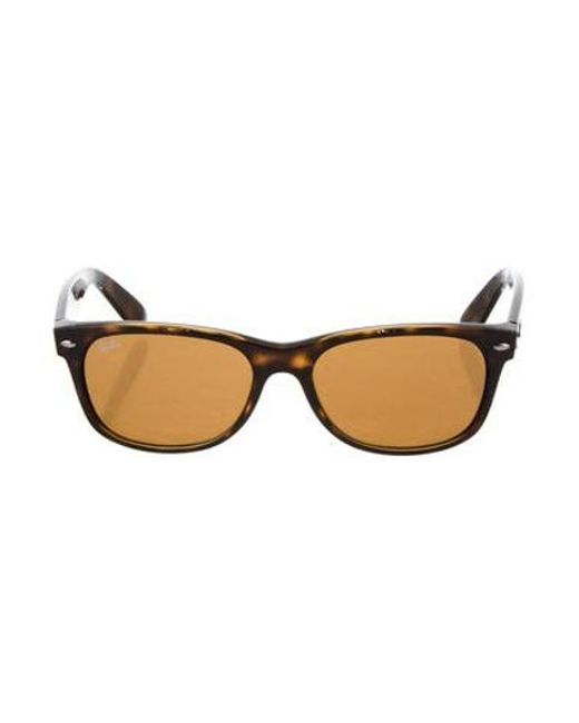 d392804bc2 Lyst - Ray-Ban Tortoiseshell Wayfarer Sunglasses in Brown - Save ...