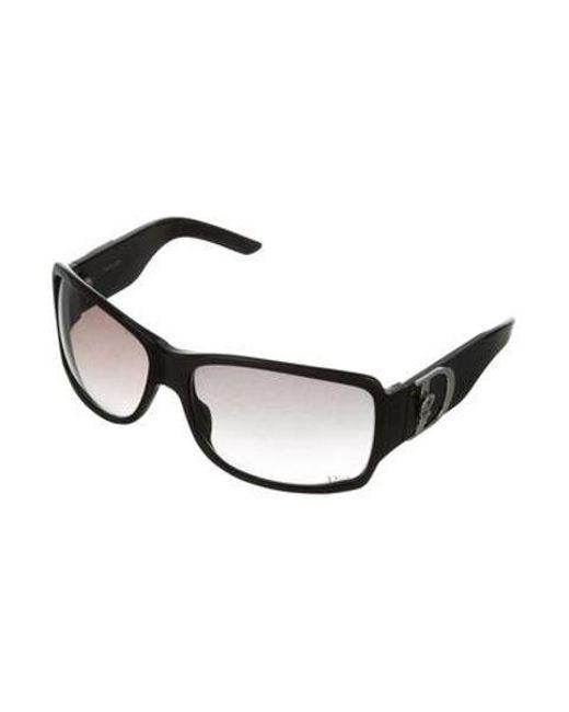 403ef8db45d ... Dior - Metallic Cottage 1 Oversize Square Sunglasses Black - Lyst ...