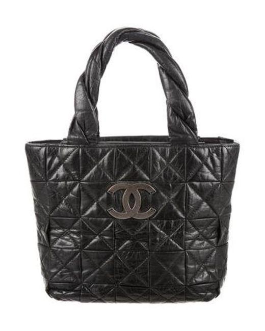 Chanel - Metallic Small Origami Tote Black - Lyst