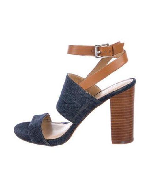 294c20e95d1 Michael Kors - Blue Denim High-heel Sandals - Lyst ...