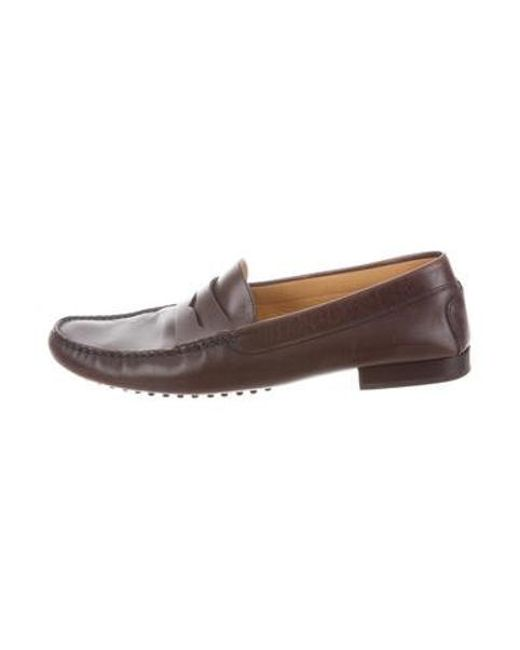 f5865b3fea5 Lyst - Tod S Leather Penny Loafers in Brown for Men
