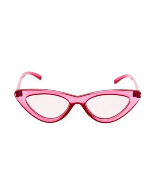 65dda614710 Lyst - Le Specs The Last Lolita Cat-eye Sunglasses W  Tags in Pink ...