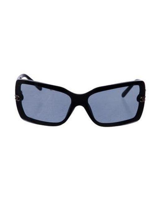 12f9194917a Chanel - Black Shield Cc Sunglasses - Lyst ...