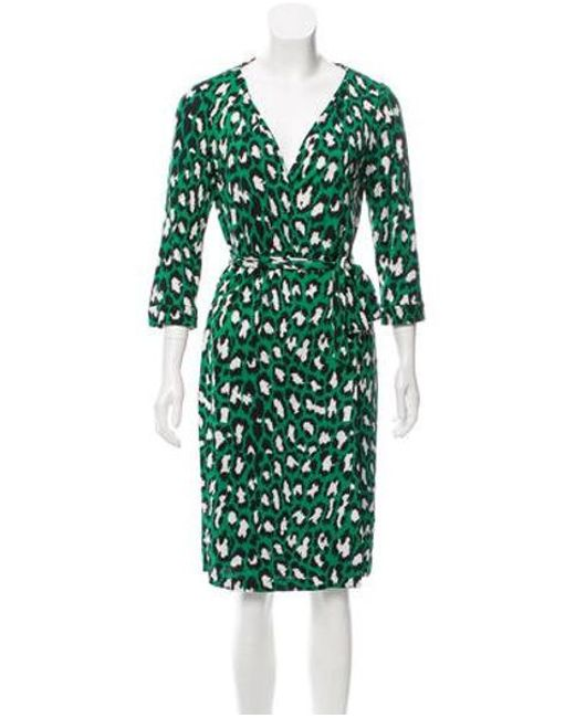5eda14df76dcc Diane von Furstenberg - Green New Julian Silk Dress - Lyst ...