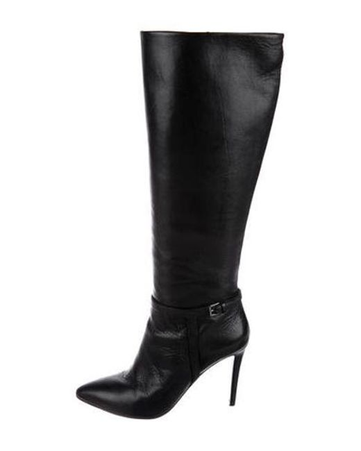 54bf5723cf6 Tory Burch - Black Leather Knee-high Boots - Lyst ...