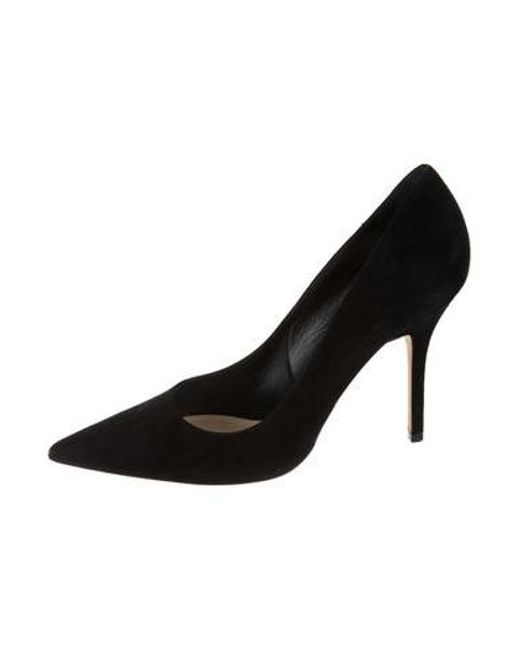 9027ae45d6d Dior - Black Suede Pointed-toe Pumps - Lyst ...