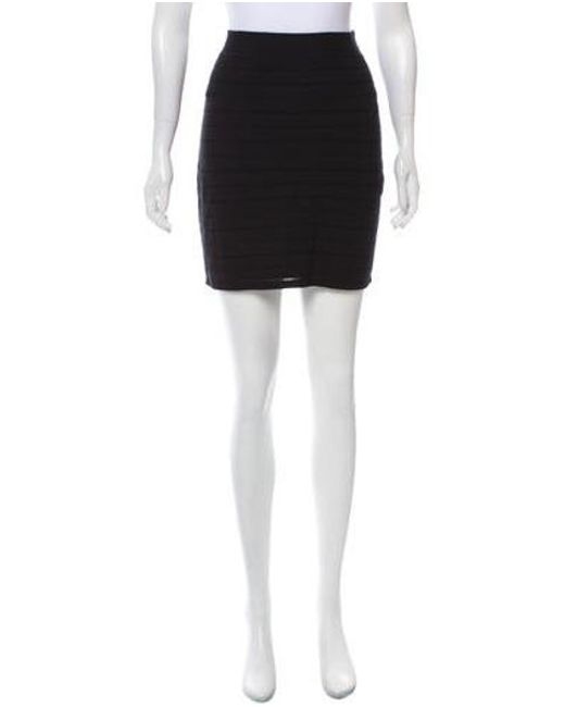 Rag & Bone - Black Knit Mini Skirt - Lyst