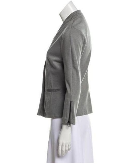 2b8874c1a62f ... T By Alexander Wang - Gray Structured Button-up Blazer Grey - Lyst ...