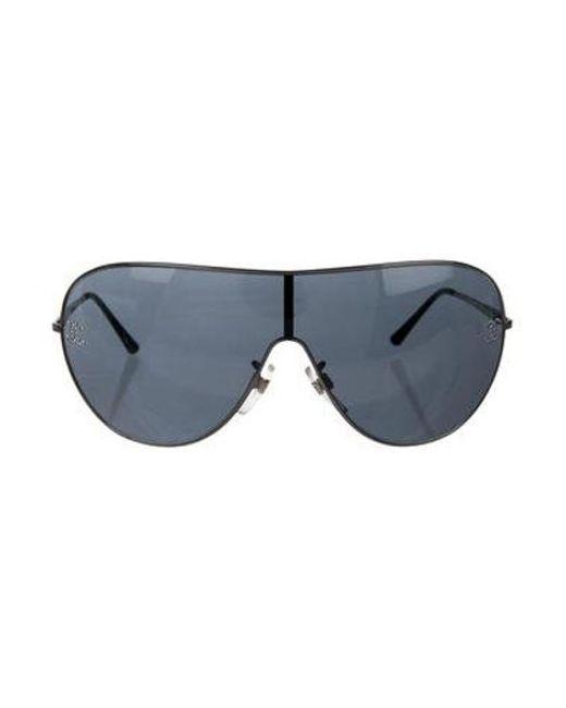 44a162ededb5 Chanel - Metallic Crystal Cc Sunglasses Silver - Lyst ...
