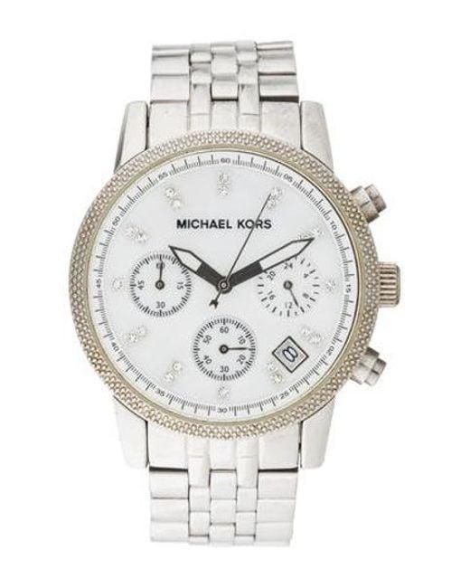 61ea98849fac Michael Kors - Metallic Ritz Watch - Lyst ...