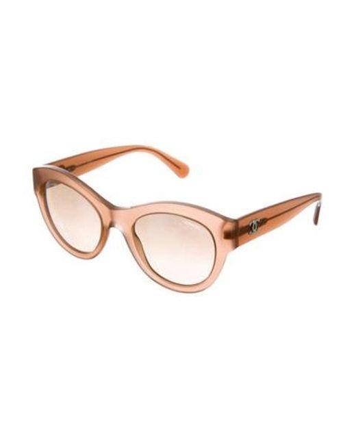 d1cec3b67ffb ... Chanel - Metallic Butterfly Summer Sunglasses Silver - Lyst ...