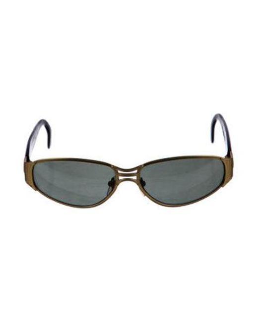 c4e4f44daa8 Jean Paul Gaultier - Metallic Oval Tinted Sunglasses Gold - Lyst ...