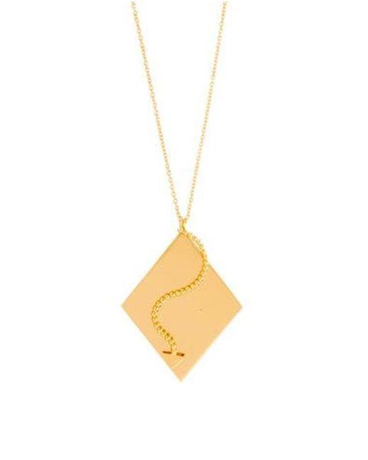Arme De L'Amour - Metallic Arrow Plate Pendant Necklace Gold - Lyst