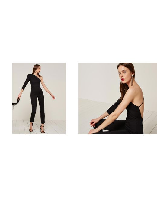 Reformation | Black Roman Jumpsuit | Lyst