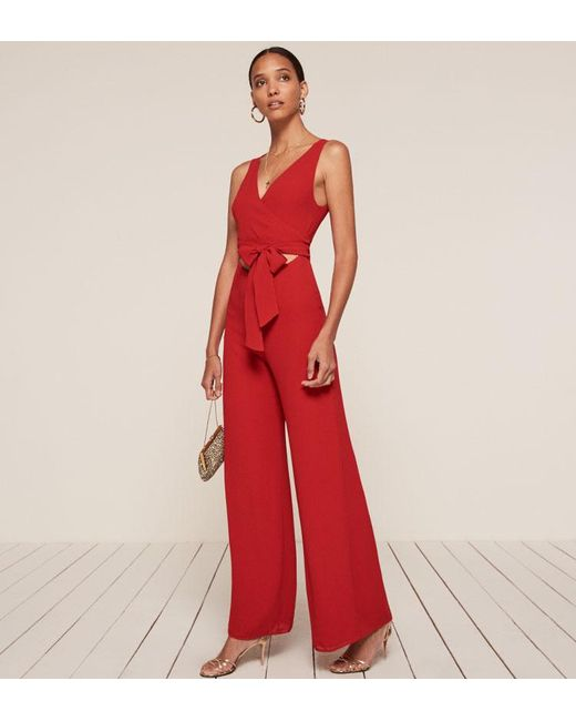 Reformation | Red Patti Jumpsuit | Lyst