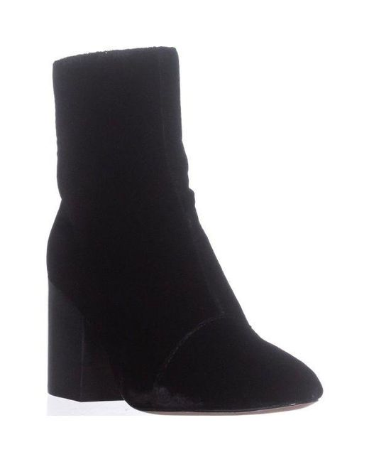 Bettye Muller - Block-heel Ankle Booties, Black - Lyst