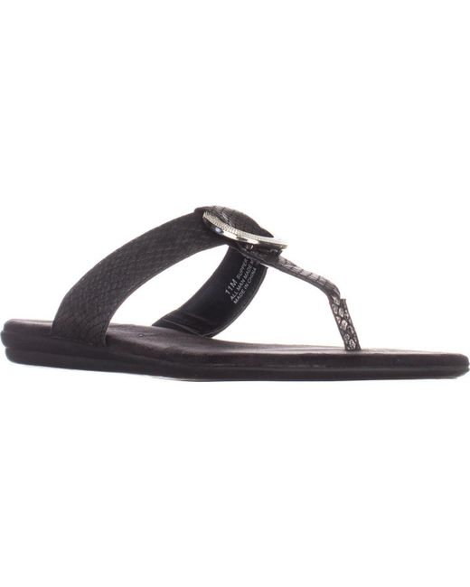 Aerosoles | Black Supper Chlub Thong T-strap Flat Sandals | Lyst