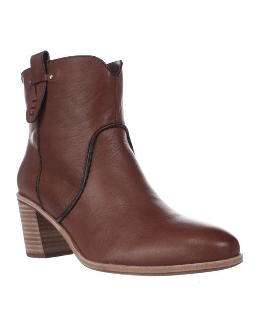 G.H. Bass & Co. | Brown Sophia Western Ankle Booties | Lyst