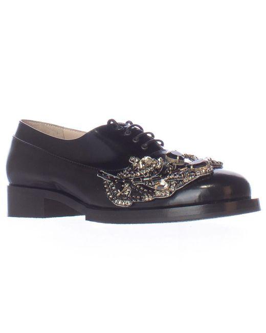 N°21 | No21 8610 Embellished Jewel Oxford Flats - Black | Lyst