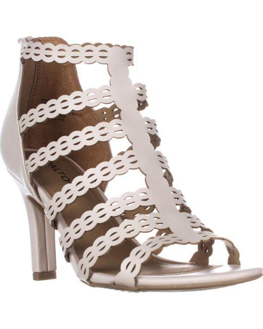 Rialto | Multicolor Roma Strappy Zip Heel Sandals | Lyst